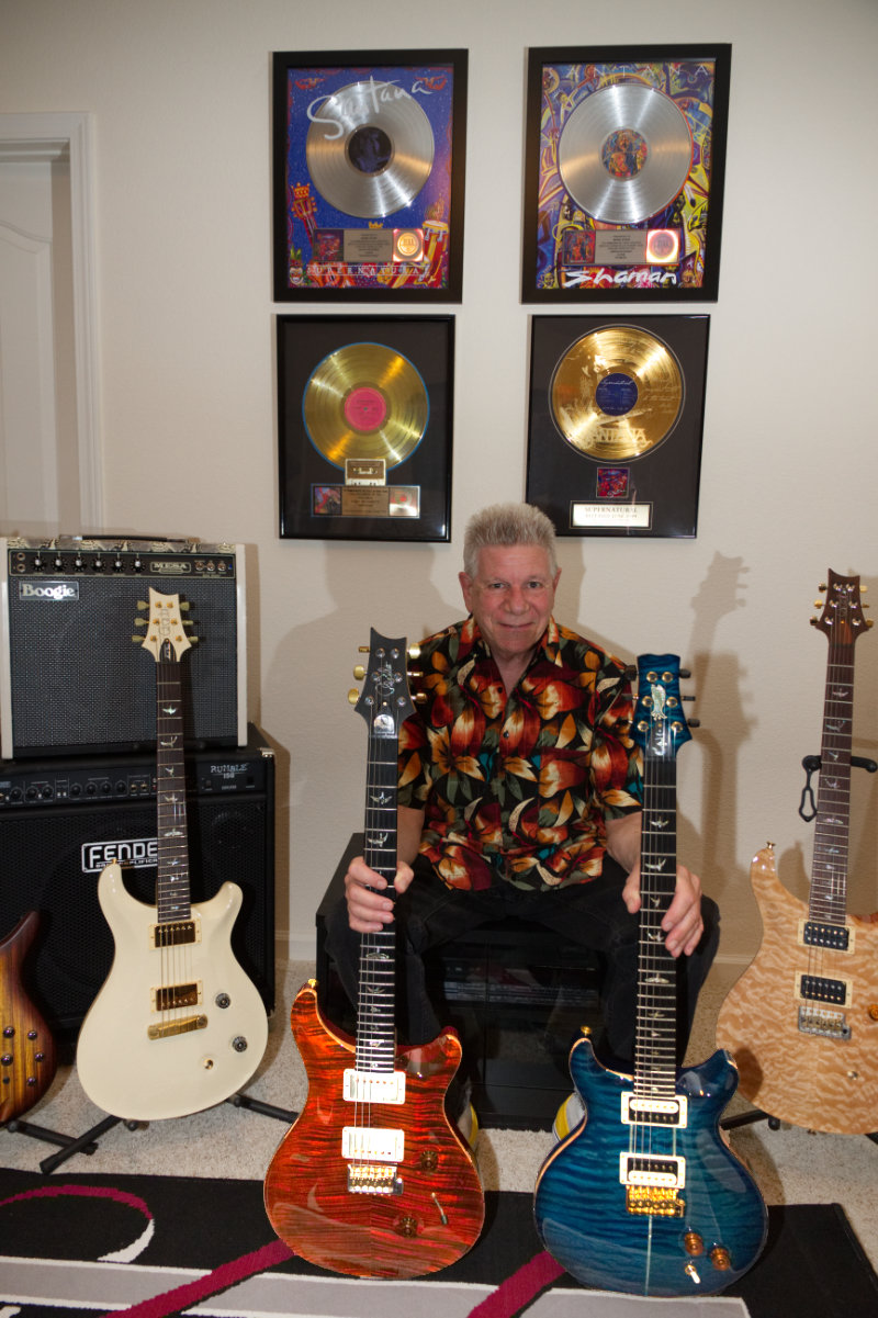 Mark Stein with guitars
